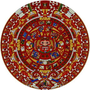 Sun Stone or the Stone of Axayacatl, depicts the 20 daysigns around the Sun God